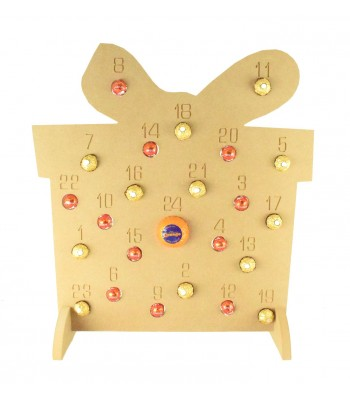 Super sized 18mm Freestanding Christmas Chocolate Orange and Ferrero Rocher Holder Advent Calendar - PRESENT