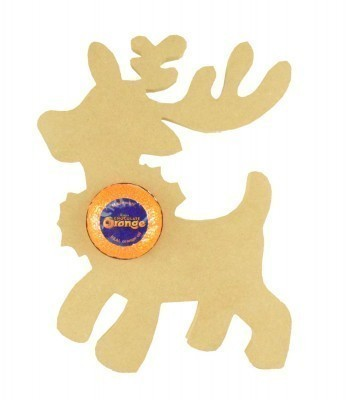 18mm Freestanding Large Christmas Reindeer Chocolate Orange Holder