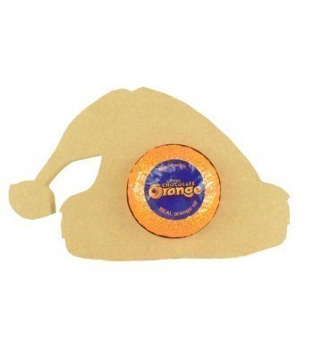 18mm Freestanding Christmas Santa Hat Bauble Chocolate Orange Holder