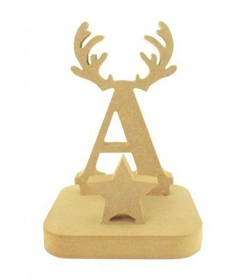 18mm Freestanding MDF Christmas Stocking Hanger/Holder - Reindeer Antler Letter