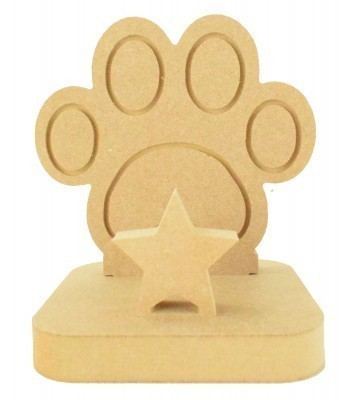 18mm Freestanding MDF Christmas Stocking Hanger/Holder - Paw Print