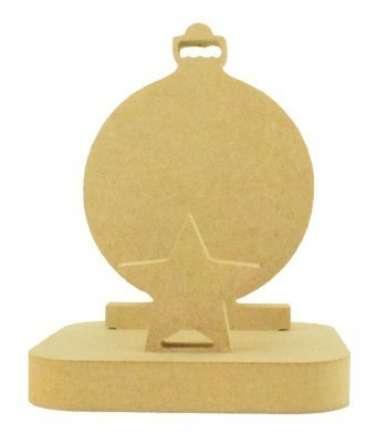 18mm Freestanding MDF Christmas Stocking Hanger/Holder - Bauble