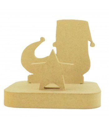 18mm Freestanding MDF Christmas Stocking Hanger/Holder - Elf Shoe