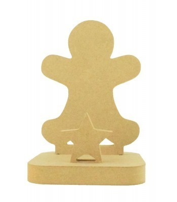 18mm Freestanding MDF Christmas Stocking Hanger/Holder - Gingerbread