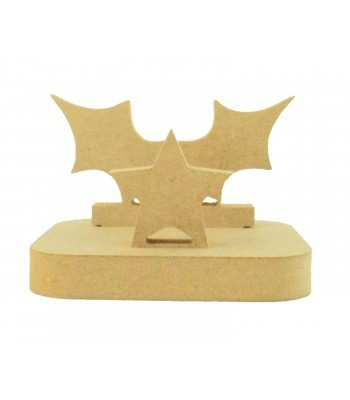 18mm Freestanding MDF Christmas Stocking Hanger/Holder - Hollly