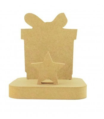 18mm Freestanding MDF Christmas Stocking Hanger/Holder - Present