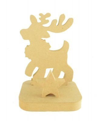 18mm Freestanding MDF Christmas Stocking Hanger/Holder - Reindeer