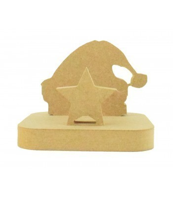 18mm Freestanding MDF Christmas Stocking Hanger/Holder - Santa Hat