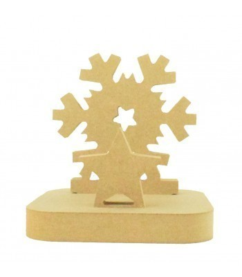18mm Freestanding MDF Christmas Stocking Hanger/Holder - Snowflake