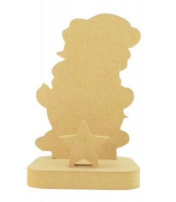 18mm Freestanding MDF Christmas Stocking Hanger/Holder - Snowman