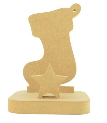 18mm Freestanding MDF Christmas Stocking Hanger/Holder - Stocking