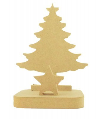 18mm Freestanding MDF Christmas Stocking Hanger/Holder - Christmas Tree