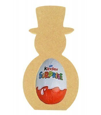 18mm Freestanding Basic Christmas Snowman Kinder Egg Holder
