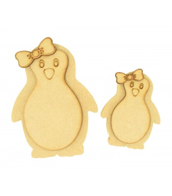 18mm Freestanding 3D Cute Girl Penguin - Options Available