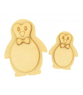 18mm Freestanding 3D Cute Boy Penguin - Options Available