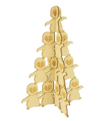 Laser Cut Freestanding Penguin Christmas Tree