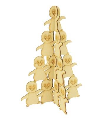 Laser Cut Freestanding Penguin Christmas Tree