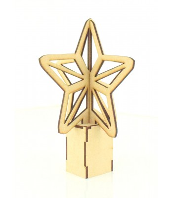 Laser cut 3D Star Tree Topper