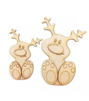Laser Cut 3D Cute Rudolph Reindeer - Options Available