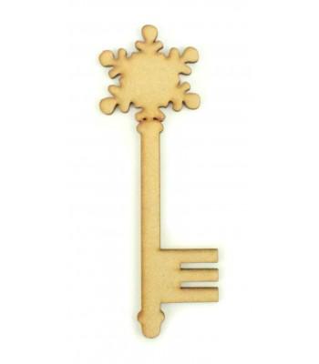 Laser Cut Magic Small Snowflake Christmas Key