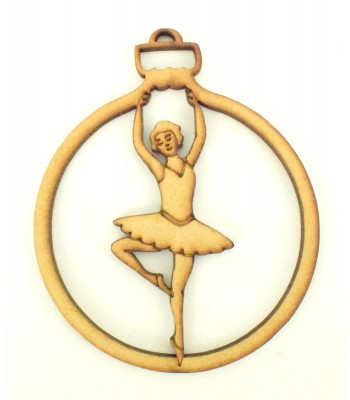 Laser Cut Ballerina Christmas Bauble