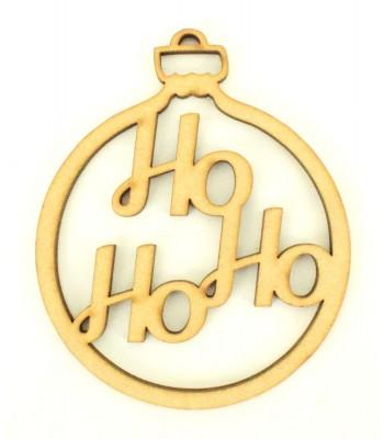 Laser Cut 'Ho Ho Ho' Christmas Bauble