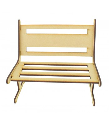 Laser cut 3mm Bench with Solid Middle Section on the Back Panel
