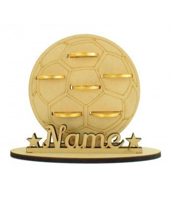 6mm Football Shape Chocolate Coin Holder on a Stand - Stand Options