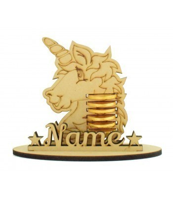 6mm Unicorn Head Shape Chocolate Coin Holder on a Stand - Stand Options