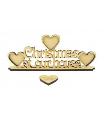 Laser Cut 'Christmas At Our House' with Frames On Stand - 6mm thickness