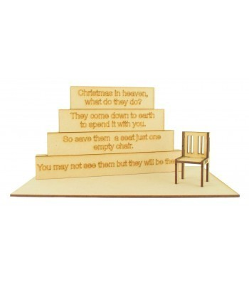 Miniature Stacking Blocks with Laser Cut Chair, Base and Etched Joined Plaques