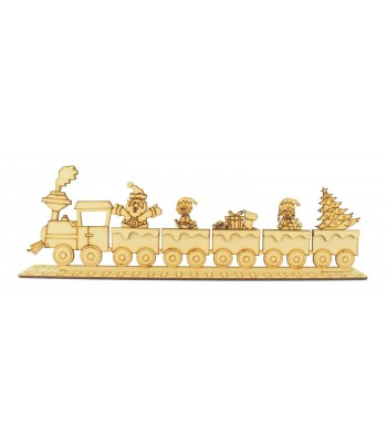 Laser Cut Christmas Train on a Stand