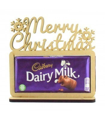 6mm 'Merry Christmas' Cadbury Dairy Milk Chocolate Bar Holder on a Stand