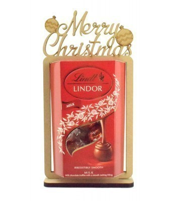 6mm 'Merry Christmas' Lindt Lindor Chocolate Box Holder on a Stand