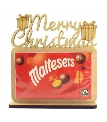 6mm 'Merry Christmas' Maltesers Box of Chocolates Holder on a Stand
