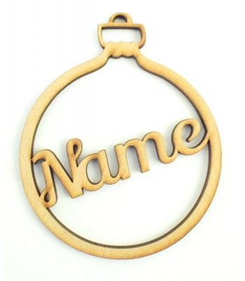 Laser Cut Personalised Christmas Bauble - 100mm Size - Script Font - BULK BUY PACK OF APPROX 90