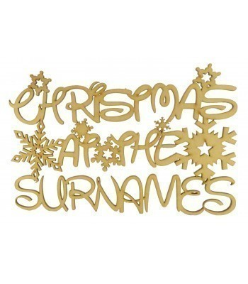 Laser Cut Personalised 'Christmas At The...' Disney Font Sign - Size Options