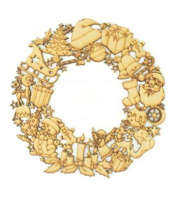 Laser Cut Detailed Christmas Shape Wreath
