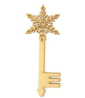 Laser Cut Magic Detailed Snowflake Christmas Key