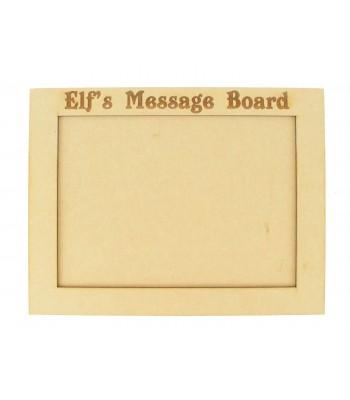 Laser Engraved 'Elf's Message Board' Chalkboard