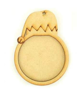 Laser Cut Elf Hat Photo Frame Bauble