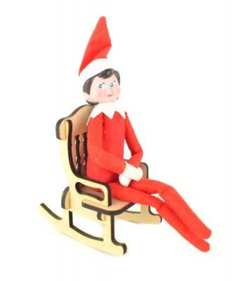 Laser Cut 6mm Plain Elf Rocking Chair