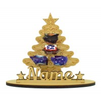 6mm Christmas Tree Shape Mini Chocolate Bar Holder on a Stand - Stand Options