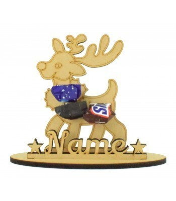 6mm Reindeer Shape Mini Chocolate Bar Holder on a Stand - Stand Options