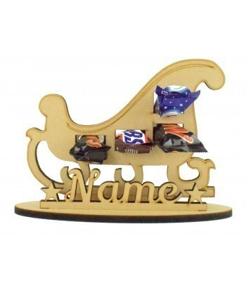 6mm Sleigh Shape Mini Chocolate Bar Holder on a Stand - Stand Options
