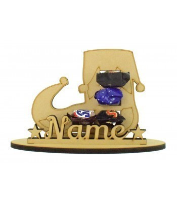 6mm Elf Shoe Shape Mini Chocolate Bar Holder on a Stand - Stand Options