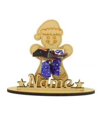6mm Gingerbread Man Shape Mini Chocolate Bar Holder on a Stand - Stand Options