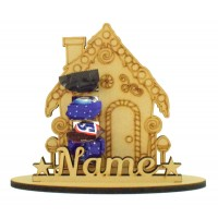 6mm Gingerbread House Shape Mini Chocolate Bar Holder on a Stand - Stand Options