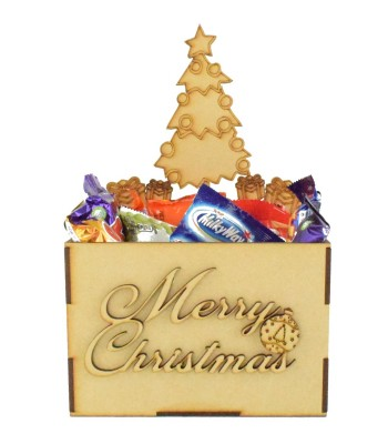 Laser Cut Christmas Hamper Treat Boxes - Christmas Tree Shape
