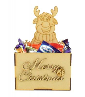 Laser Cut Christmas Hamper Treat Boxes - Christmas Reindeer Shape